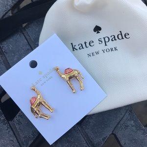 Kate Spade Gold Camel Stud Earrings